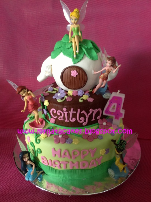 Mynata Cakes: Tinkerbell birthday cake for Caitlyn