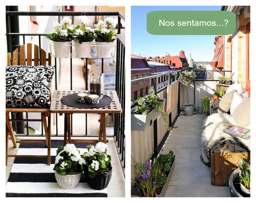 Una pizca de hogar grandes ideas para peque os balcones for Decoracion balcones pequenos