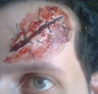 Pinturas de Halloween. Corte e Cicatriz.