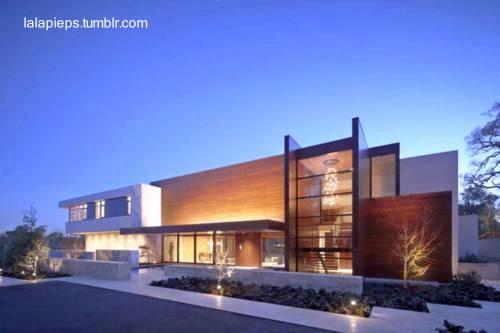 Perspectiva de una residencia estilo Contemporáneo