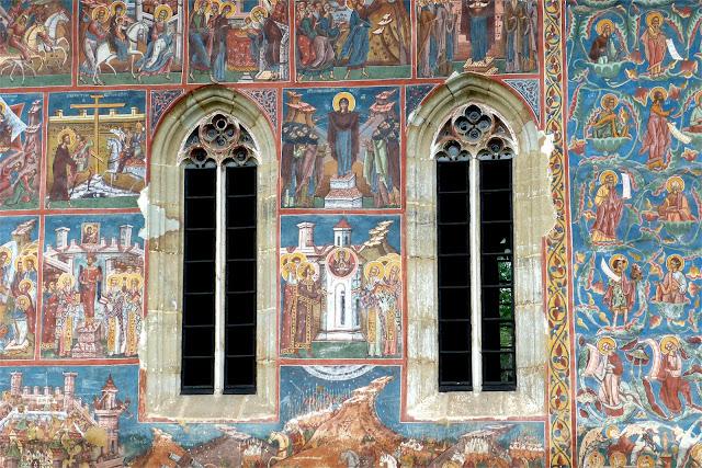 Frescos del monasterio de Moldoviţa