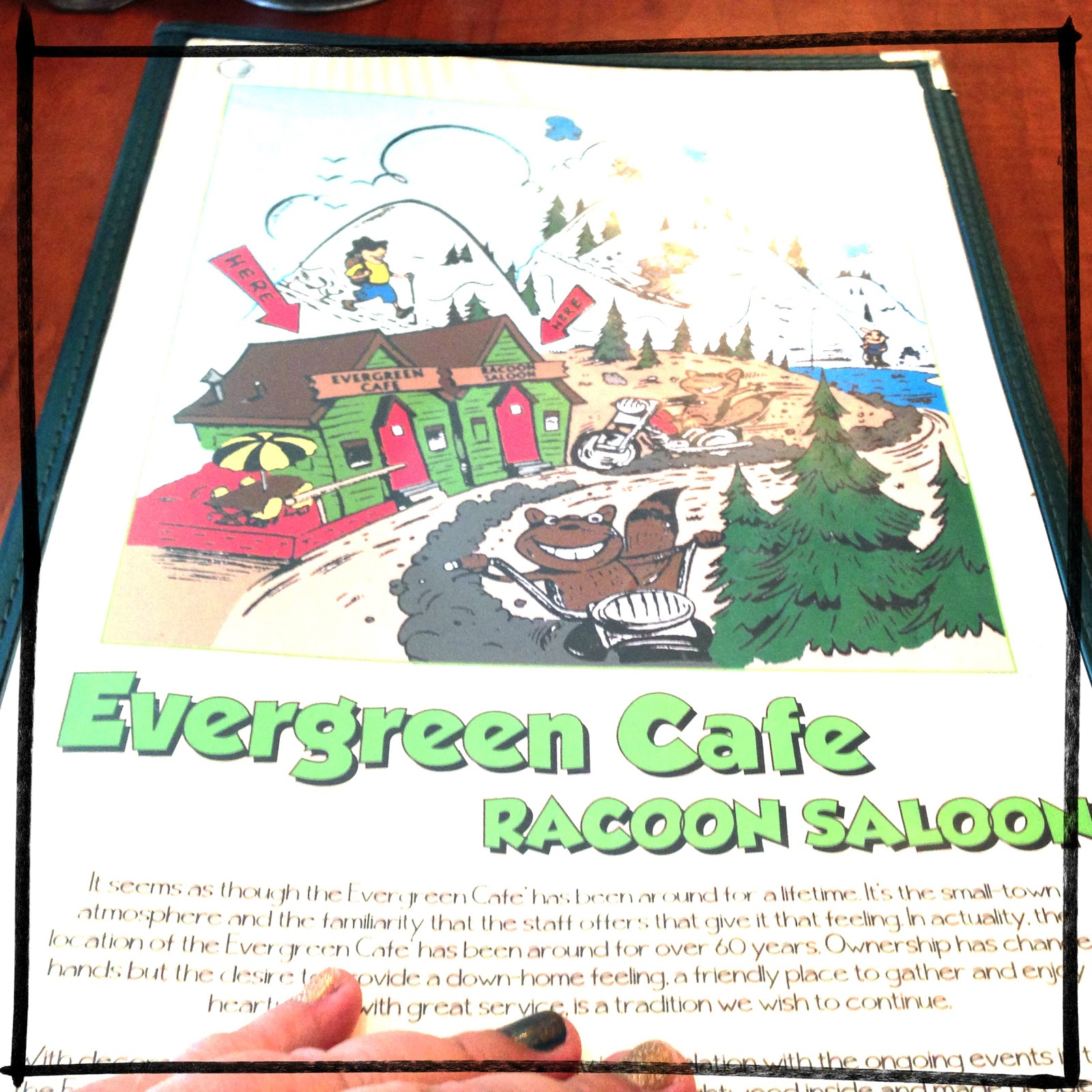 Evergreen Cafe Menu Wrightwood