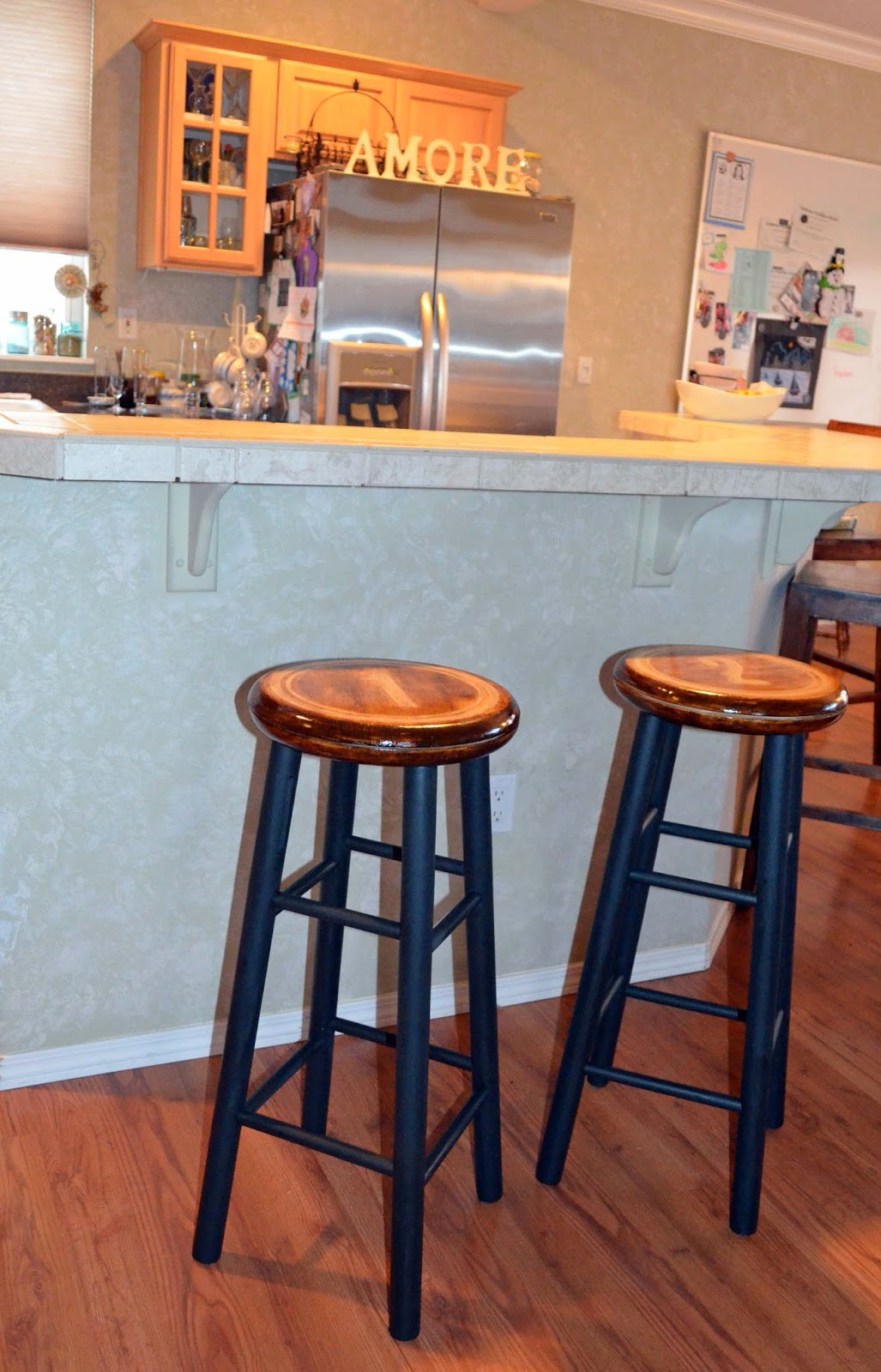Industrial Stenciled Stools | Vintage Roundabout