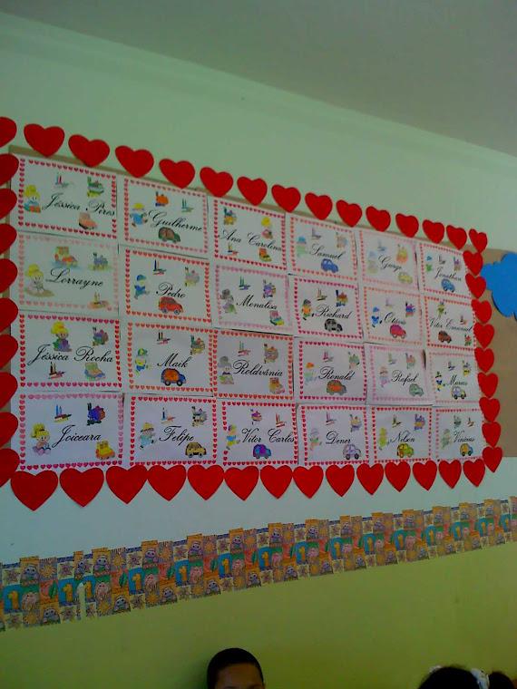 Painel das salas de aula do 2º,4º e 5º anos