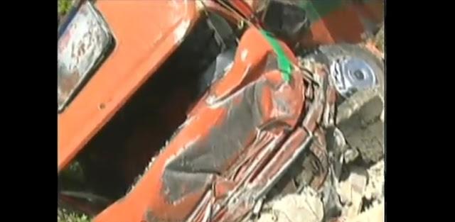Caminhão cai de barranco e ameaça casas no bairro vila olga em santa luzia mg