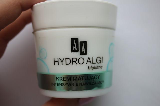 Dobry krem matujący | AA hydro algi błękitne recenzja