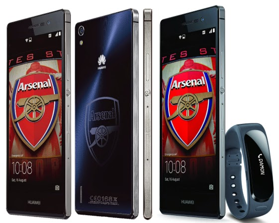 Huawei Ascend P7 Arsenal Edition, Huawei Ascend P7 review, 4G LTE, Full HD, Arsenal FC, Arsenal fans, smartphone for Arsenal fans, the Gunners, Android KitKat, new Android smartphone,