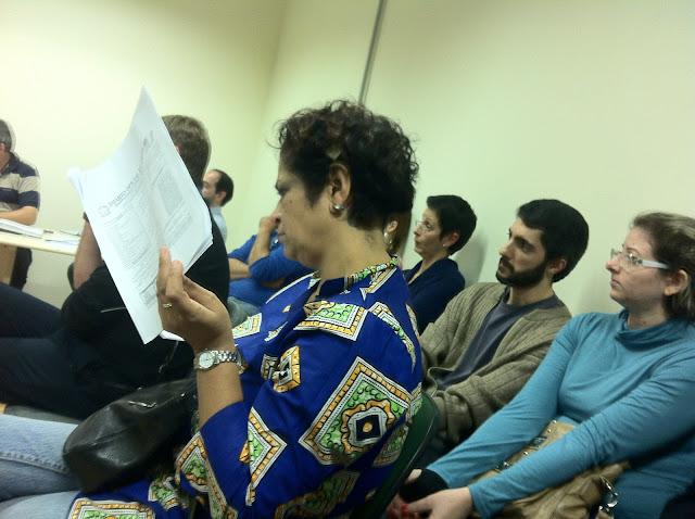 Professores da Unipampa reunidos em assembleia no campus São Borja