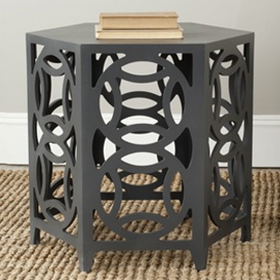 Overstock Safavieh Natanya Charcoal Grey Side Table