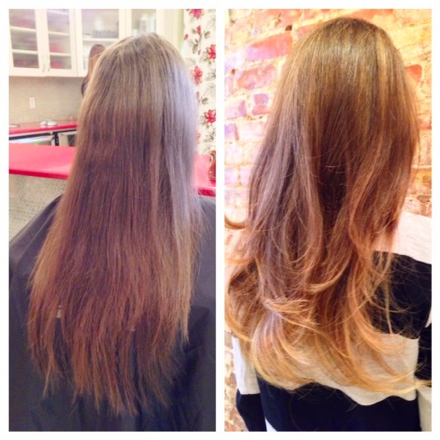 blonde balayage ombre on long hair