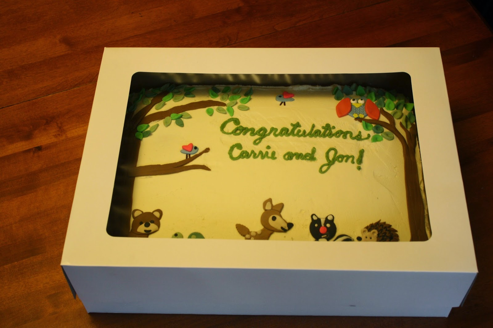 sue 39 s sweet creations woodland animals theme baby shower cake