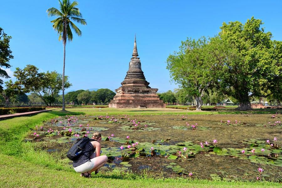 Wat Mahathat, Sukhothai w Tajlandii