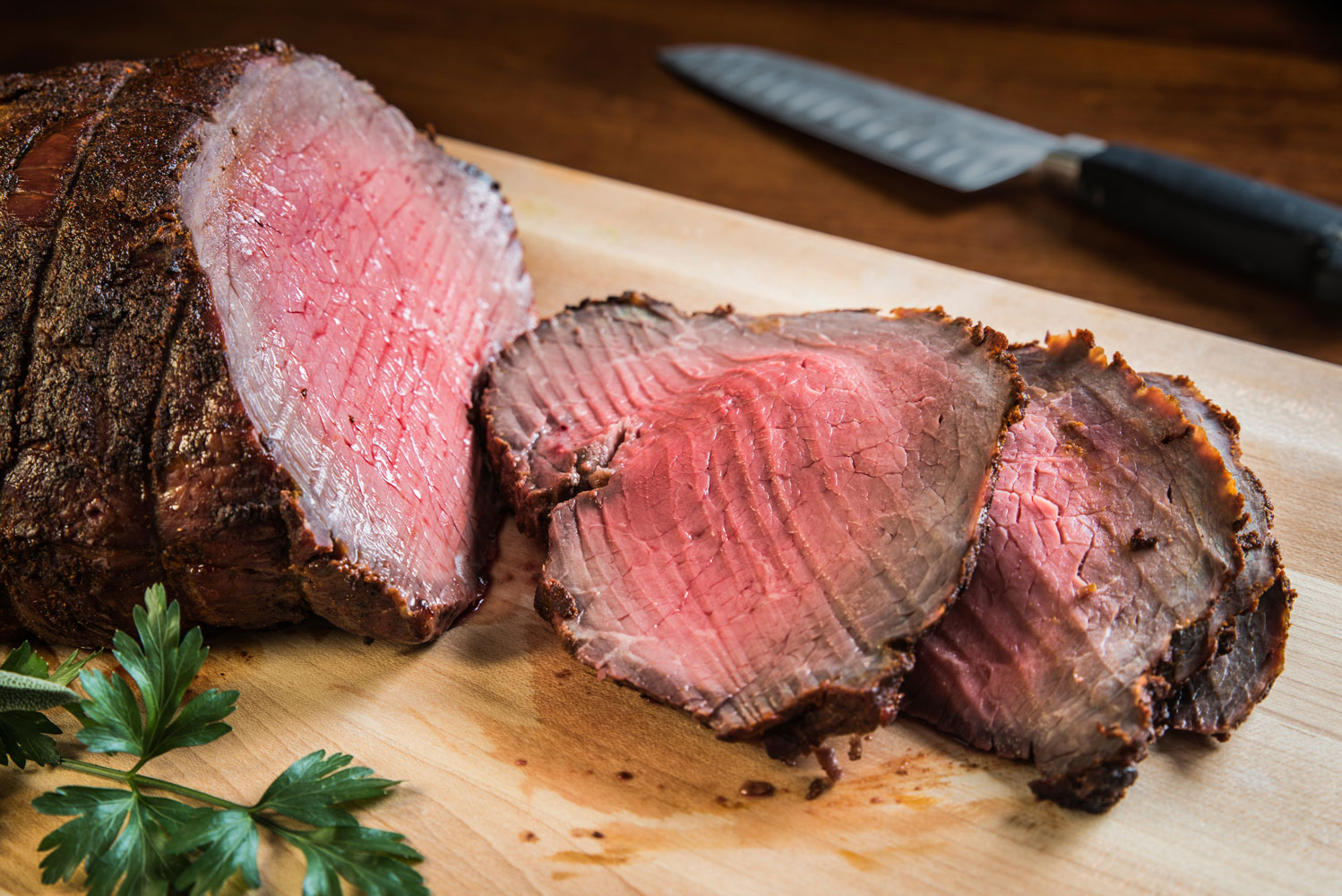 roast beef garlic studded herb roast beef roast beef with caramelized ...