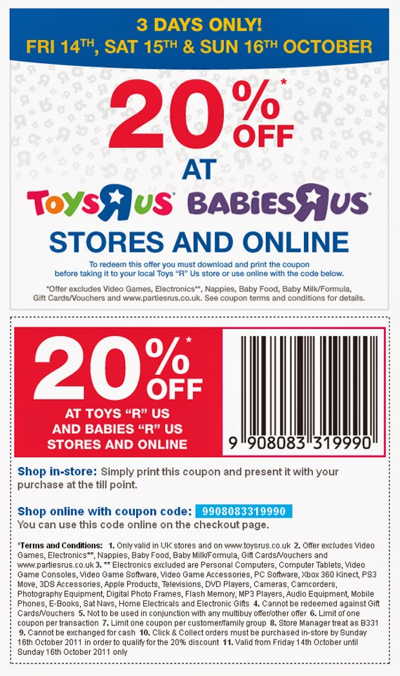 photo about Toys R Us Coupons in Store Printable named Infants r us discount codes september 2018 : Ninja cafe nyc