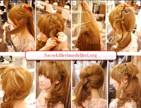 Показаны картинки по запросу Вечерняя Прическа на Средние Волосы Пошагово.