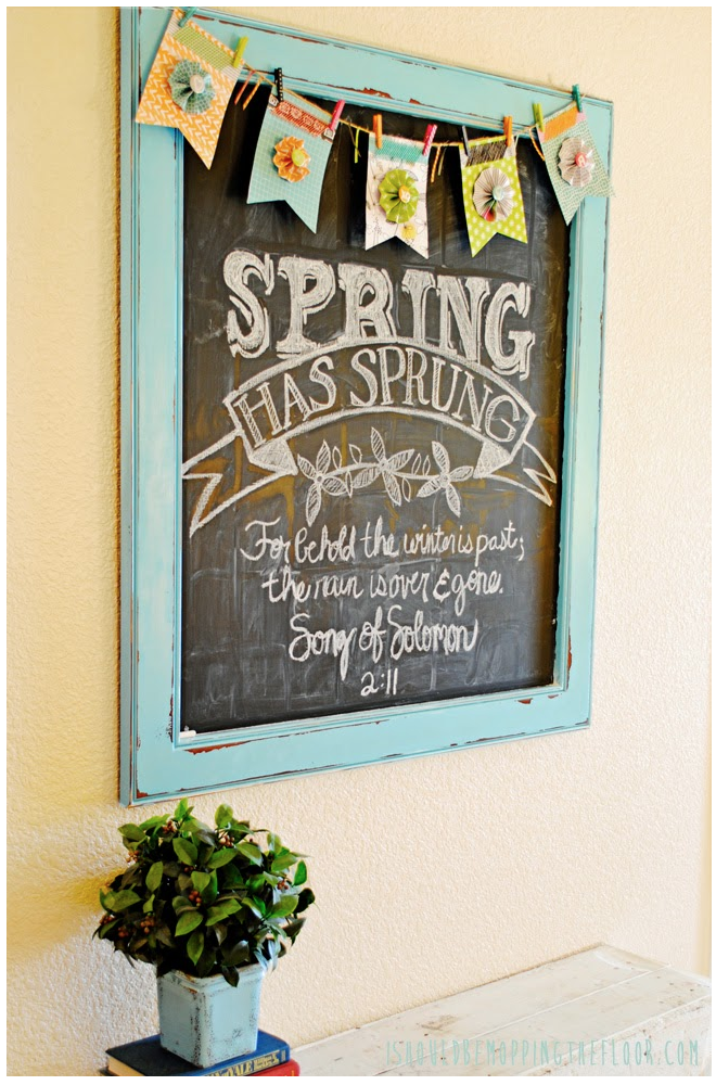 I should be mopping the floor free spring chalkboard for Free chalkboard template