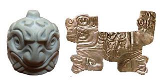cabeza clava y orfebreria de oro chavin