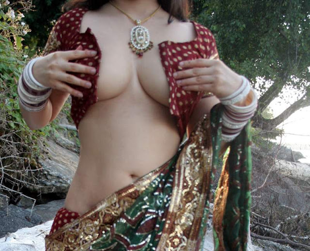 Newly Married Indian Housewife Stripping Outdoor Honeymoon Pics III indianudesi.com