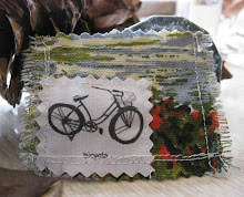 vintage bike fabric pin