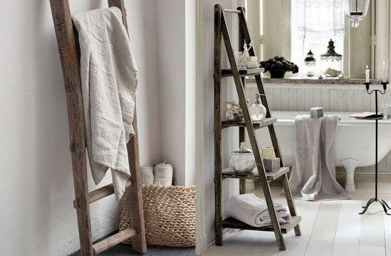 Escaleras viejas para decorar ideas creativas que - Escalera de madera de pintor ...
