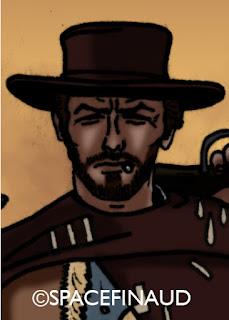 """""""L'Homme sans Nom"""", interprété par Clint Eastwood, qu'on ne présente plus. Certainement, l'anti-héros le plus célèbre du western.  Connu dans la Trilogie des Dollars de Sergio Leone."""