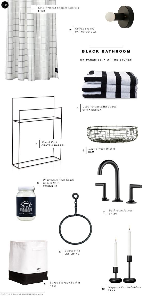 Black bathroom bliss | Shopping picks