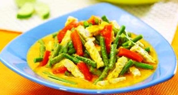 Long Beans Gulai. Nusantara Culinary
