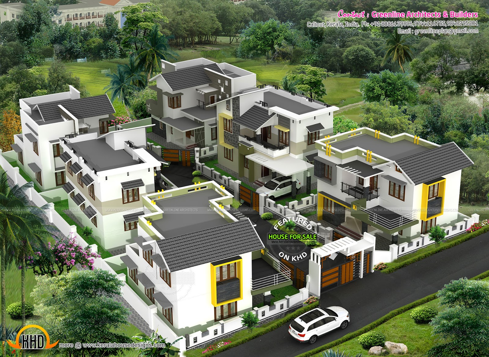 Villa for sale at calicut kerala kerala home design and for Compound house plans