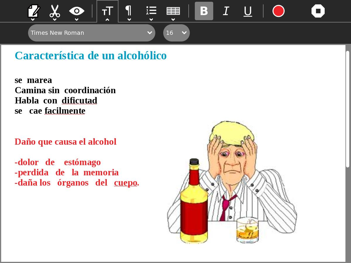El alcoholismo los tests con las respuestas