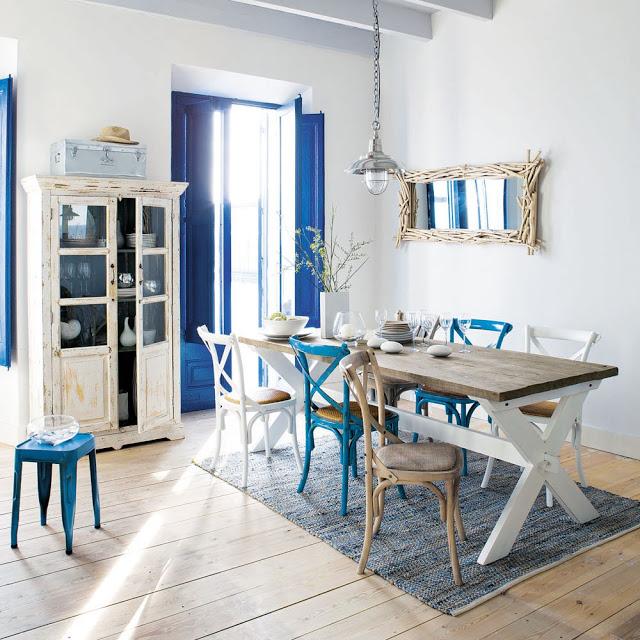 Entre barrancos decoraci n sillas diferentes para la for Comedor sillas diferentes