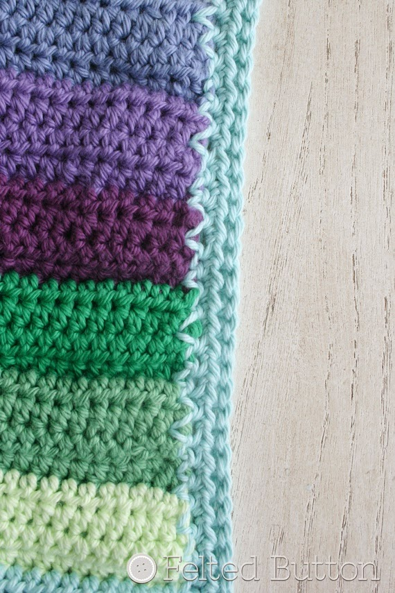 Felted Button Colorful Crochet Patterns How To Crochet A Clean