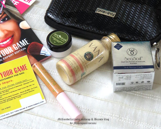 Fab Bag November review and unboxing, Fab bag review, How to order fab bag, Best beauty box, Best beauty box available in India, Monthly beauty box subscription, Indian beauty blog, Indian makeup and beauty blog