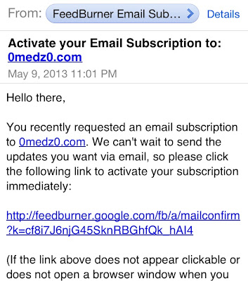 activate your email subscription feedburner email