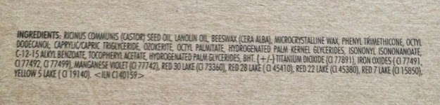 stila convertible color ingredients
