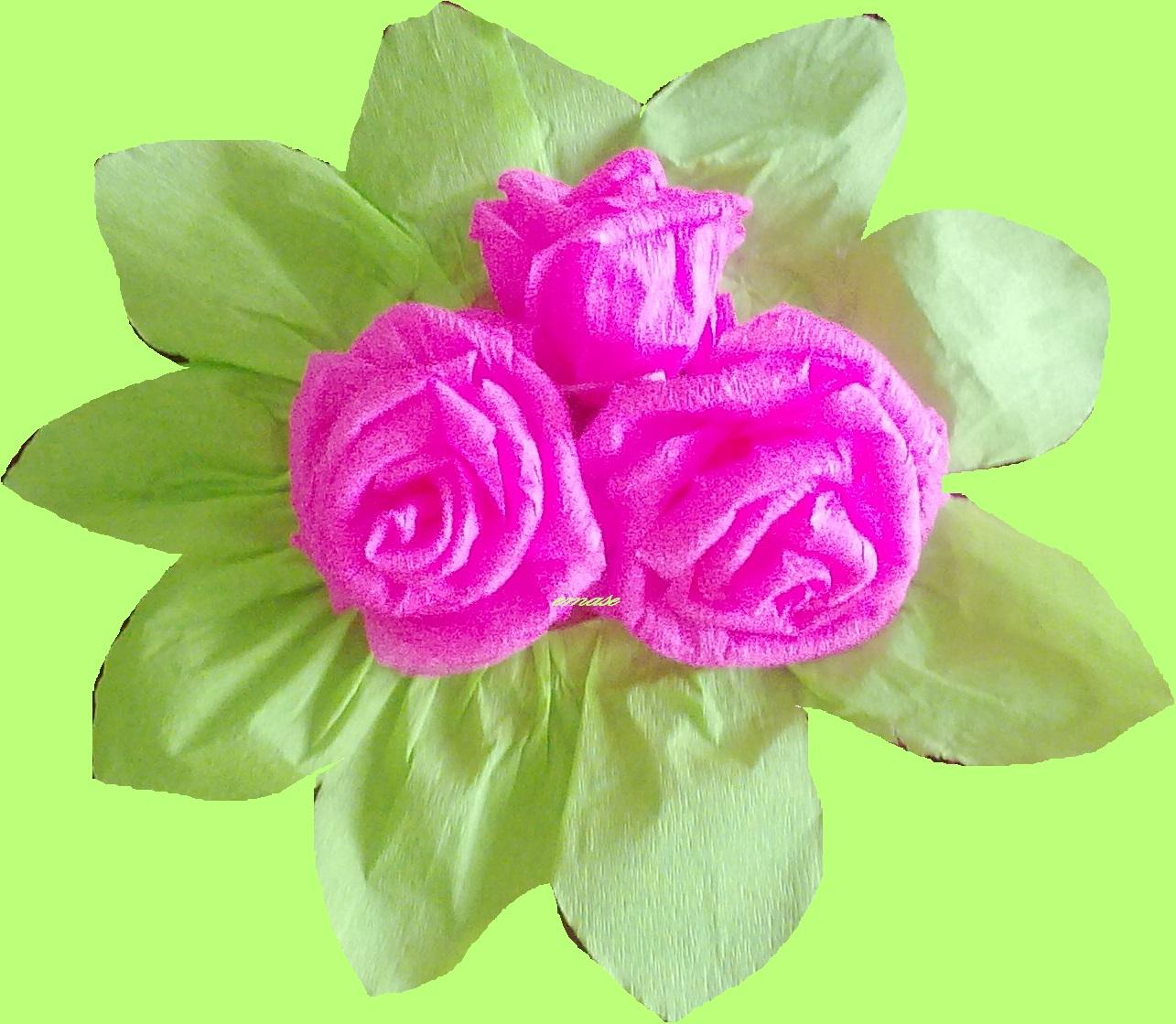 Como hacer flores con papel crepe todo manualidades - Manualidades en papel ...