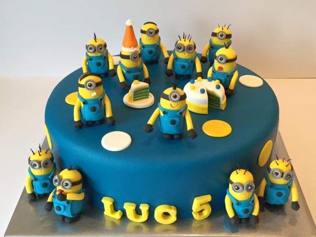 Zeer Verschrikkelijke Ikke Minion taart / Despicable Me themed cake &FT91