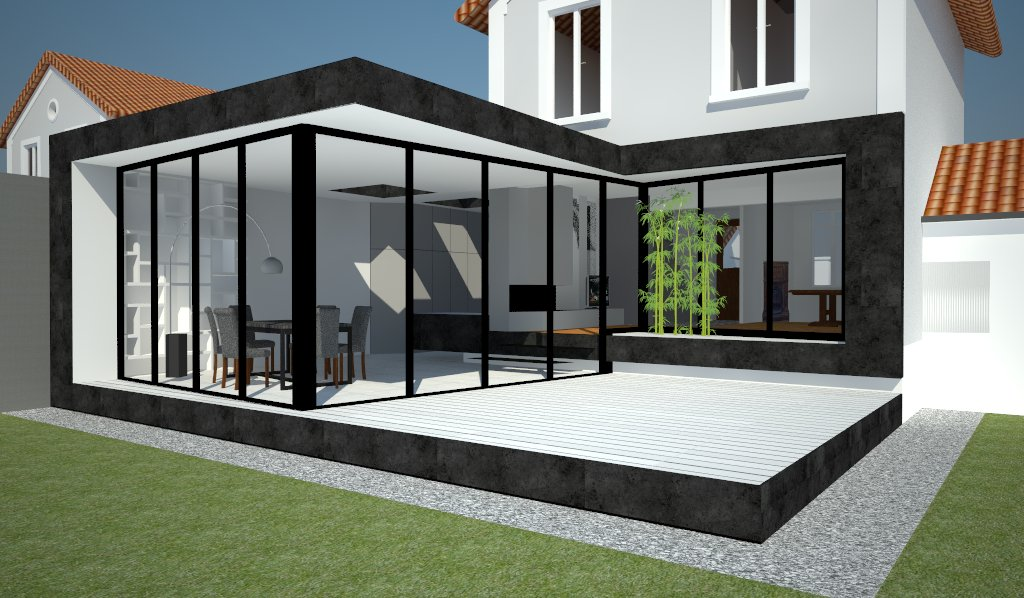 extension de pavillon extension de pavillon a saint maur des fosses. Black Bedroom Furniture Sets. Home Design Ideas