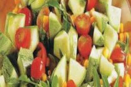 Receita de Salada de abobrinha e tomate-cereja