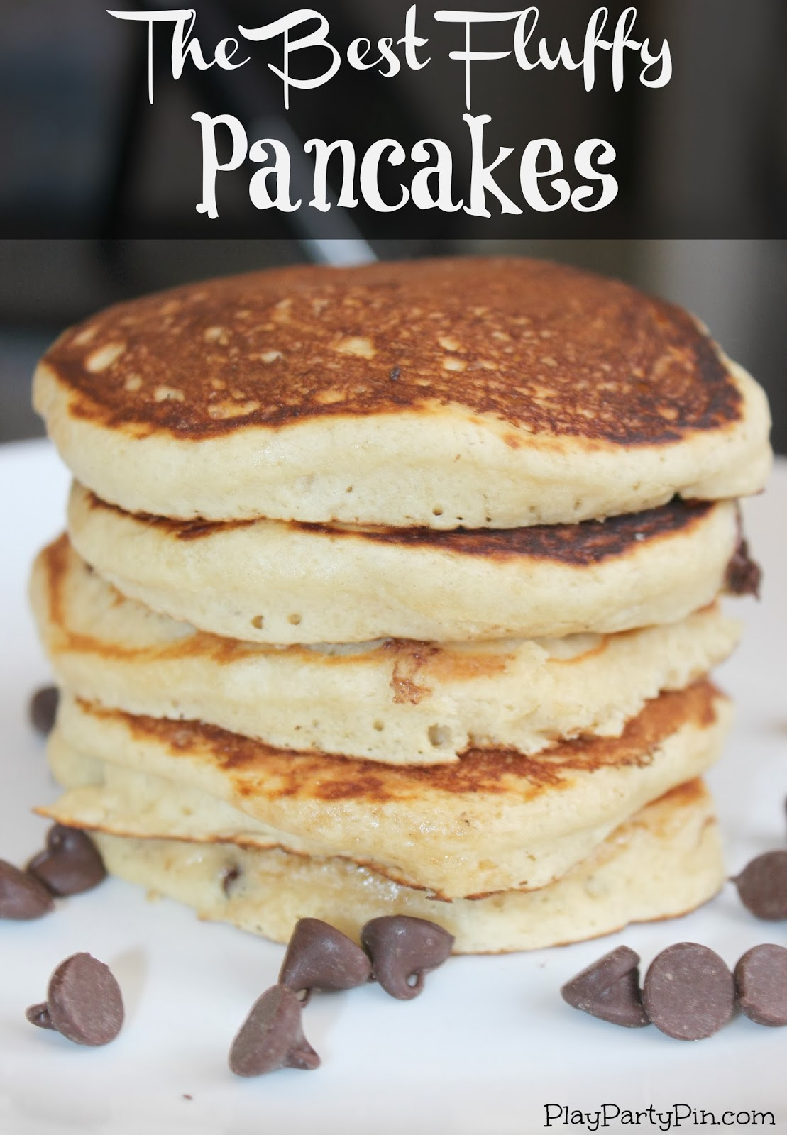 The Best Fluffy Pancakes by playpartypin.com #pancakes #breakfast # ...