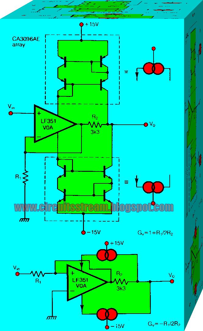 Various diagram: Constant Bandwidth Amplifier Wiring diagram Schematic