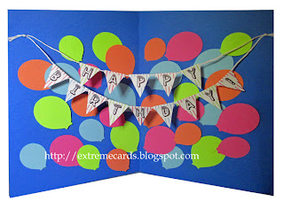 pop up balloons birthday card