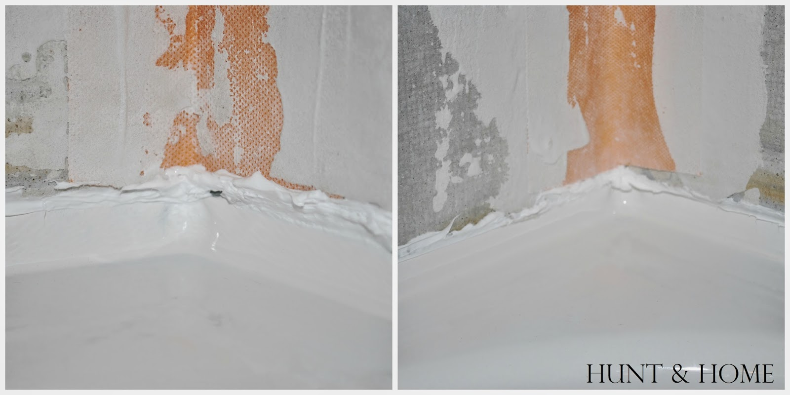 how to caulk tub flange cement board