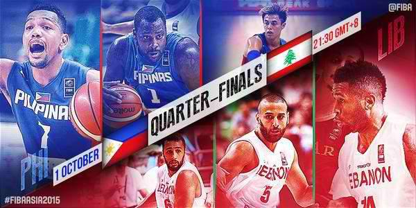 FIBA Asia 2015: Gilas Pilipinas vs. Lebanon Live Stream, Schedule and Time