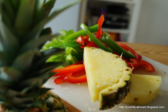 ananas, papryka