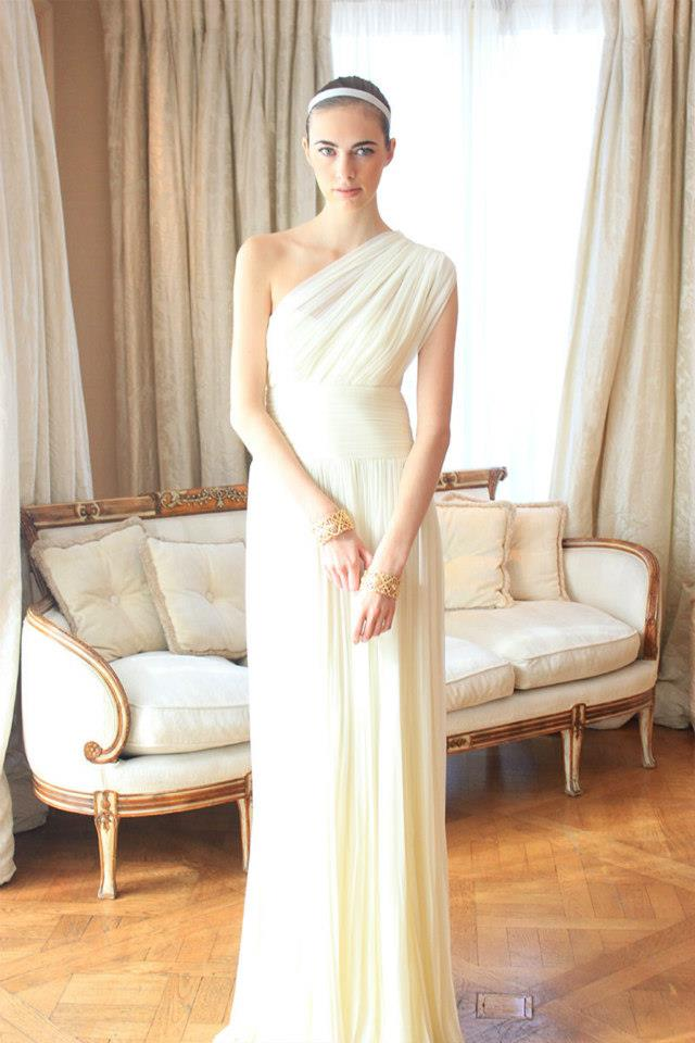 Grecian goddess wedding dress ~ Weddings in Greece | Destination ...