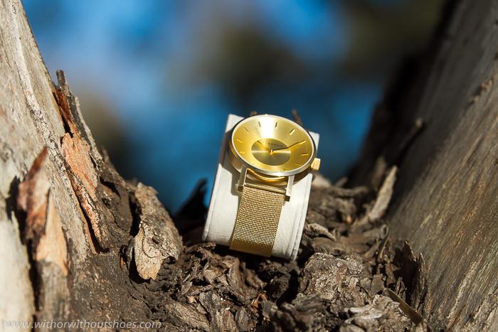 Tendencia en relojes metalicos en oro amarillo