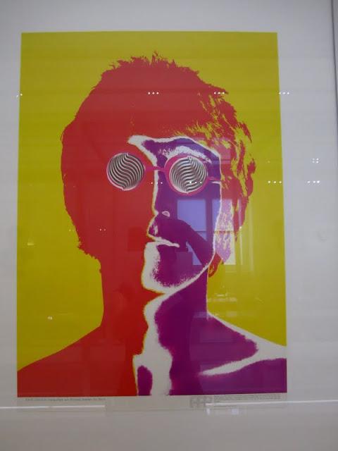 John Lennon Pop Art in Hamburg, Germany.