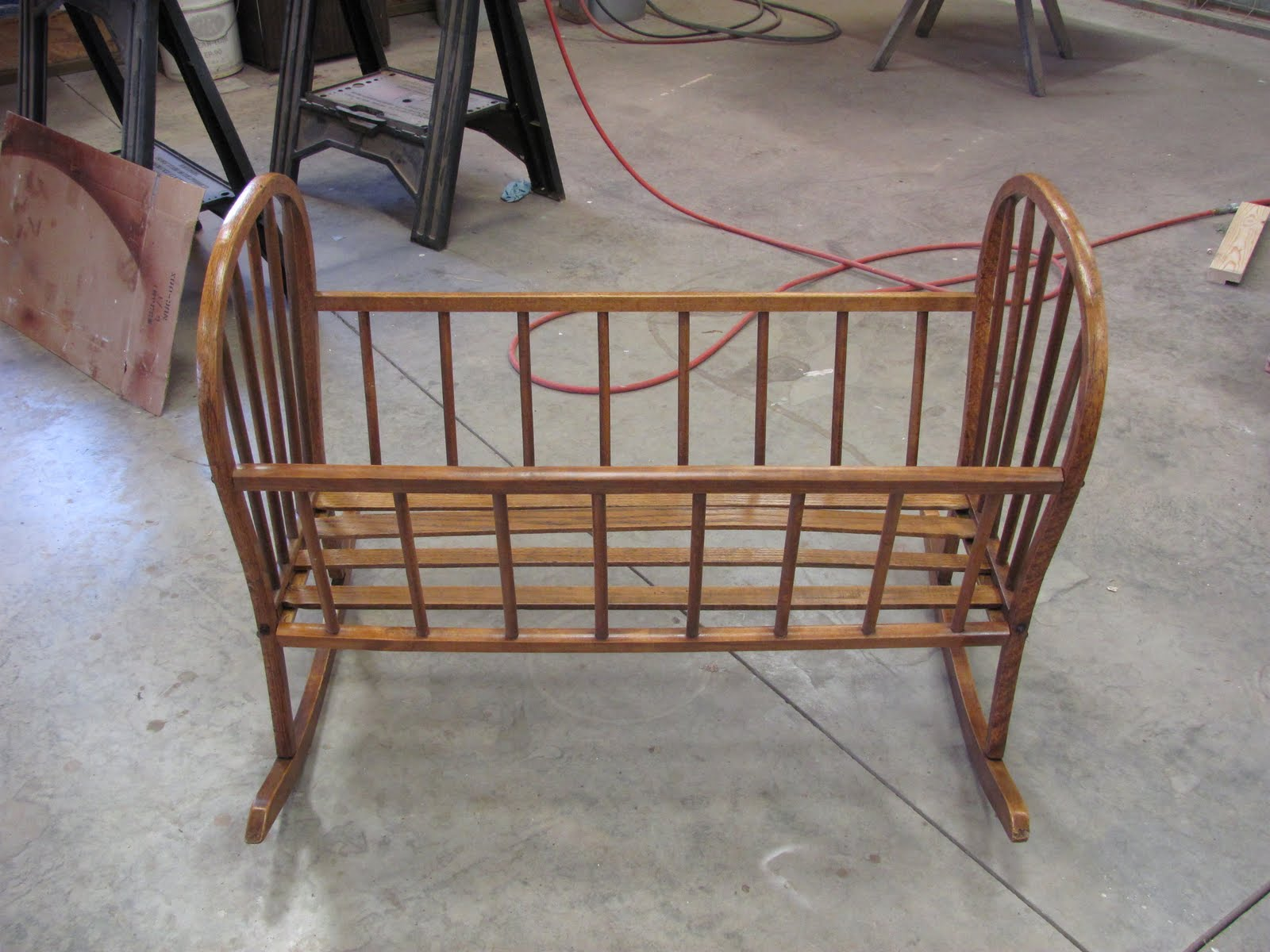 Antique Baby Cradle And Chairs
