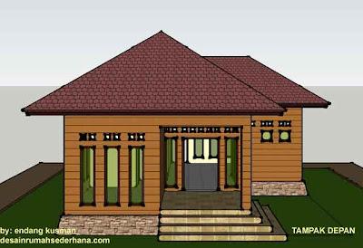 Desain Rumah Mungil Minimalis - Tampak Depan