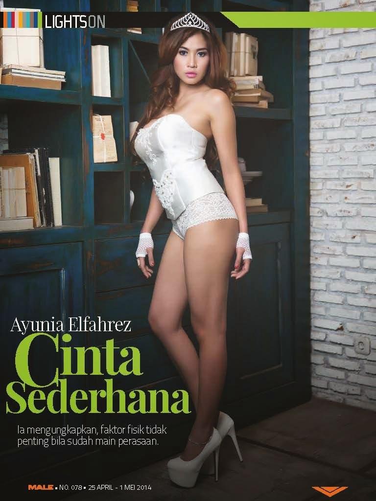 Ayunia Elfahrez Di Lights On Majalah Male April Mei  Best Entertainment